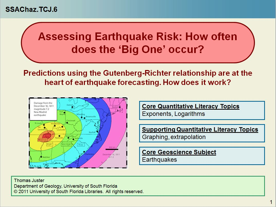 Assessing Earthquake Risk How Often Does The Big One Occur