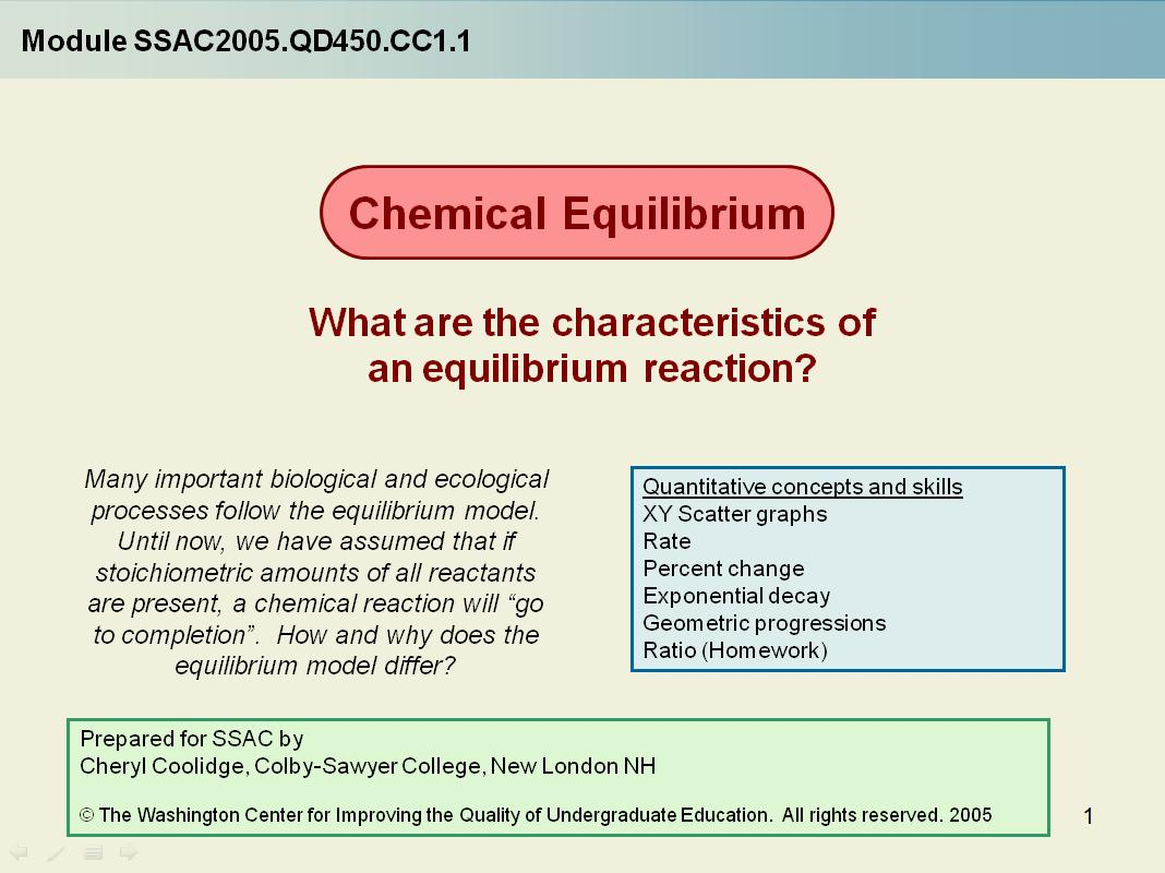 Chemical Equilibrium What Are The Characteristics Of