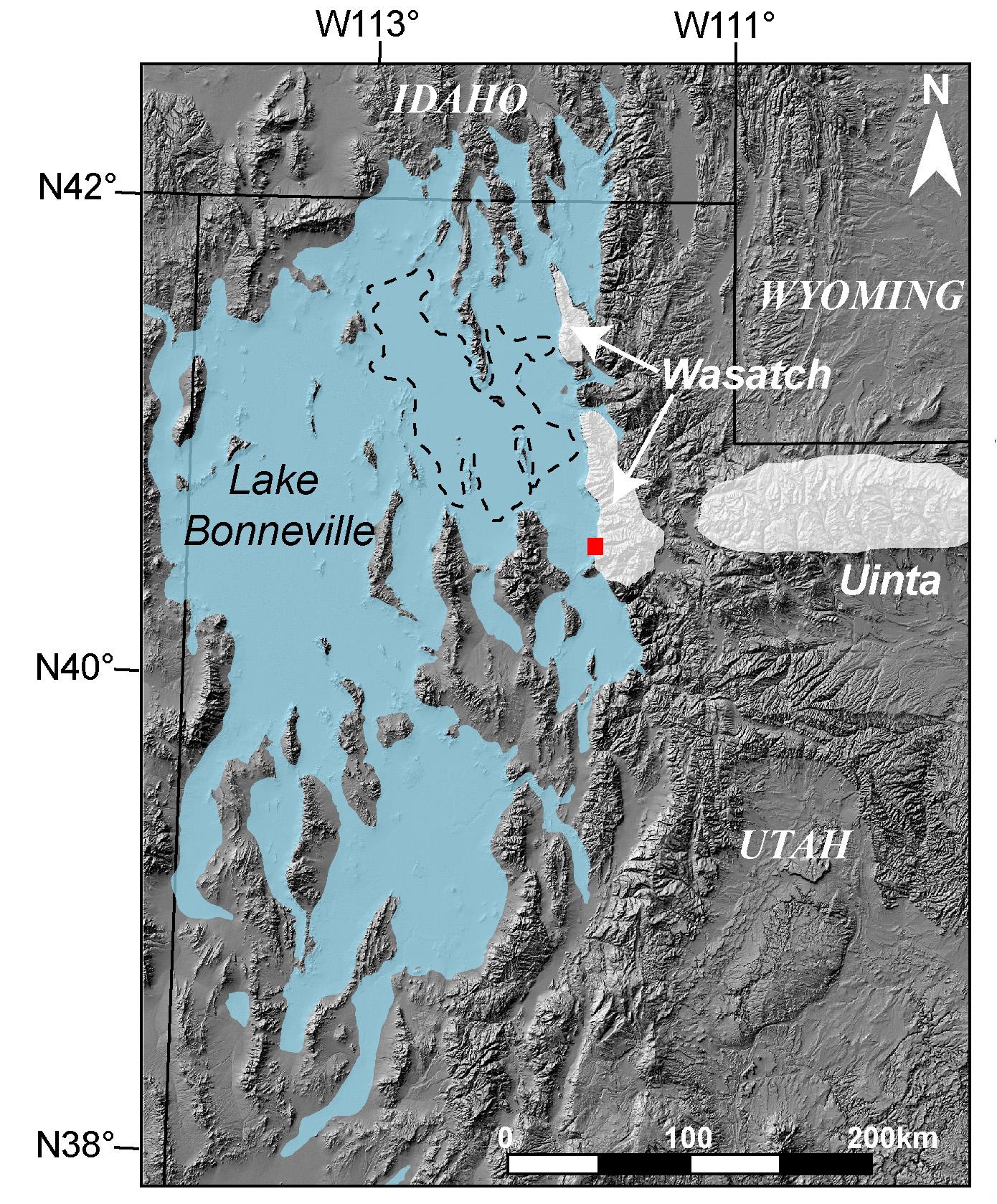 Shaded Relief Map Of Utah