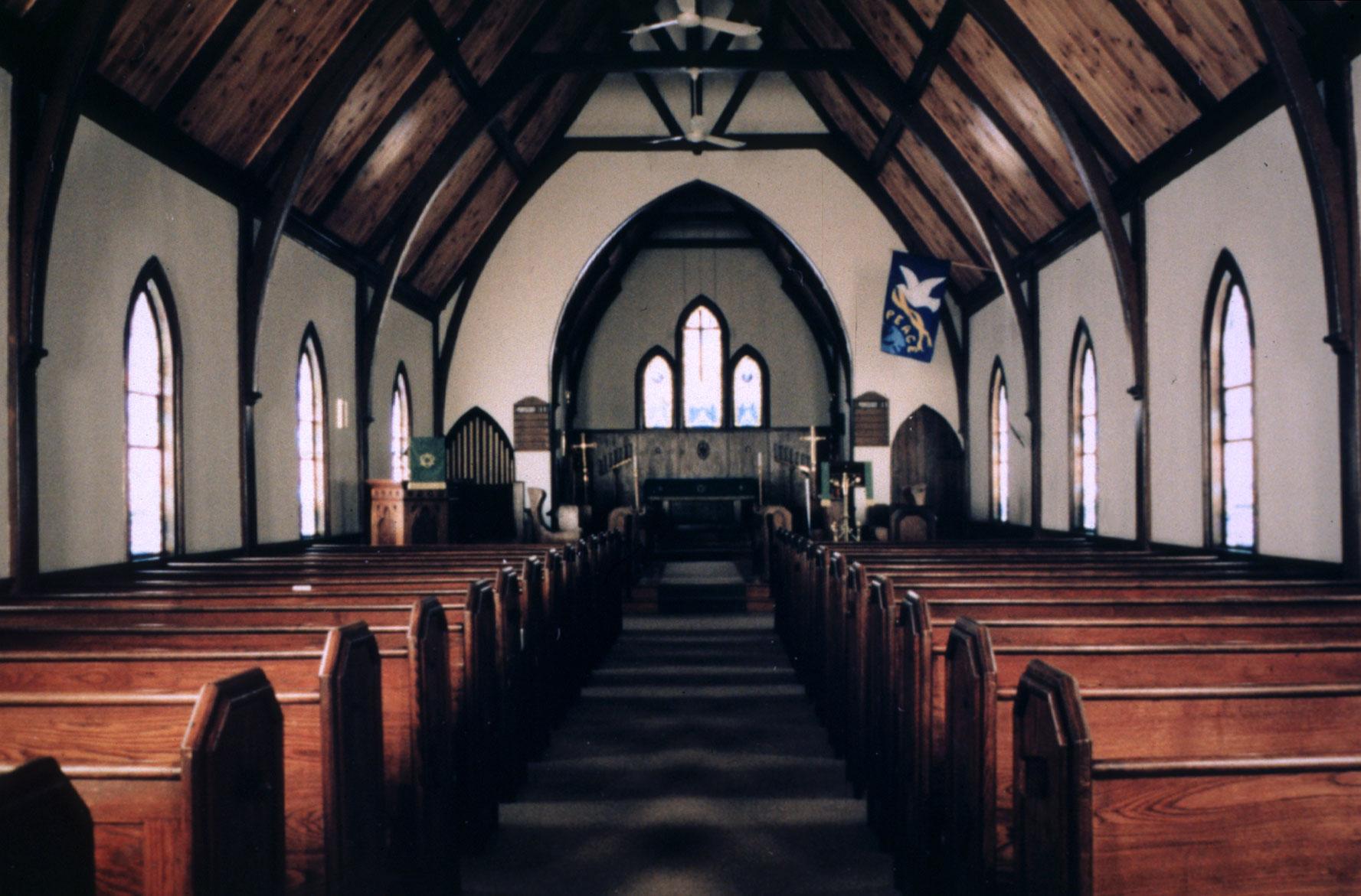 Inside Trinity Lutheran Church