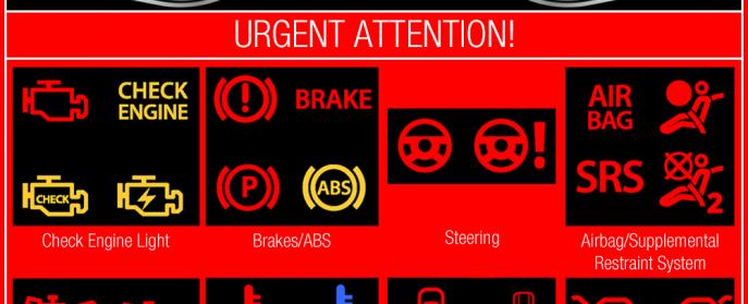 dashboard warning lights you can t