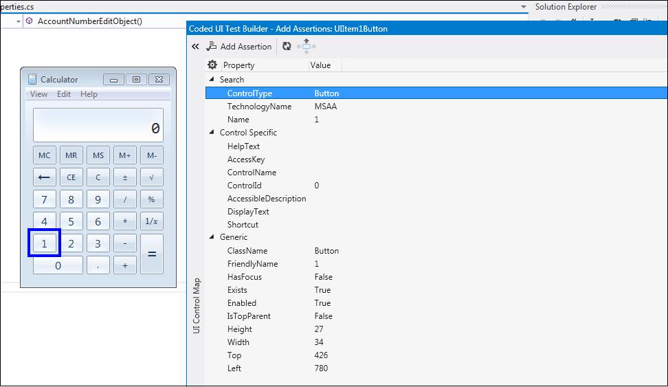 Windows Application Automation - Calculator Button Properties