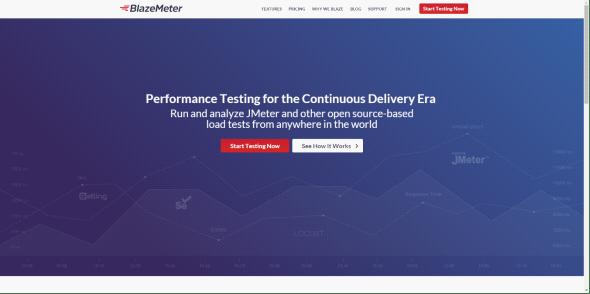 BlazeMeter Website Screenshot
