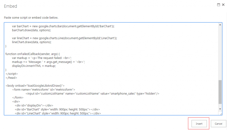 Code Snippet Screen