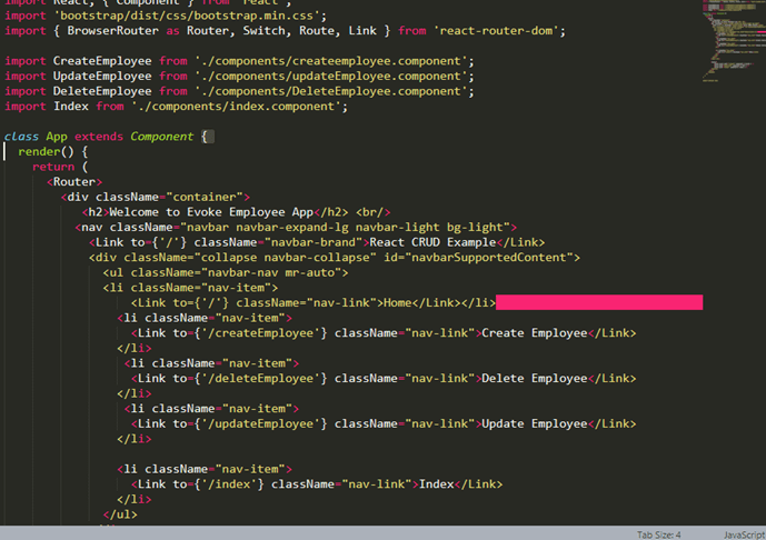 ReactJS Framework Routing Features