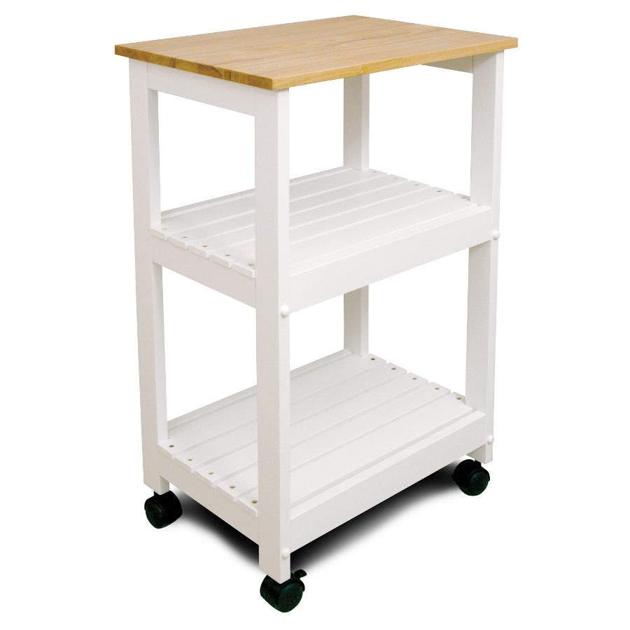 white kitchen trolley utility cart with