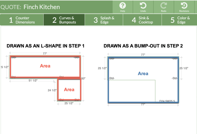 How Square Footage Is Calculated - Moraware CounterGo Knowledge Base