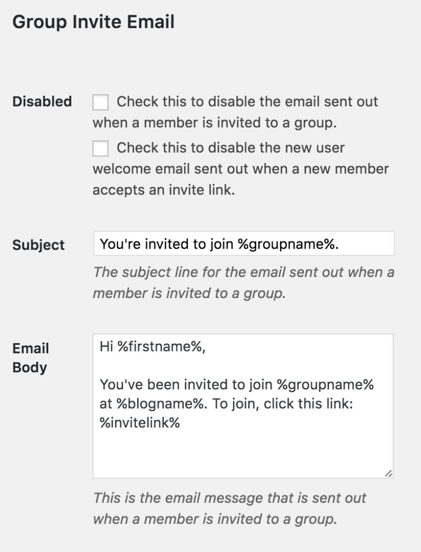 Next You Need To Configure The Email Settings Do That Go Restrict Emails And Compose An In Group Invite Section