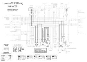 Honda Shadow VT600 VLX 600 Ignition Circuit Diagram  TJ