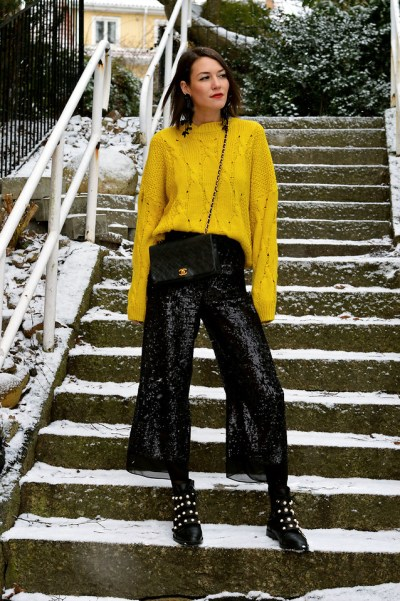 Fashionista NOW: How To Style Your Sparkly Sequined Party Pants?