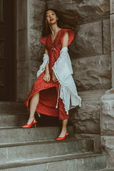 Printed Red Dresses For A Romantic Picnic Day Outing