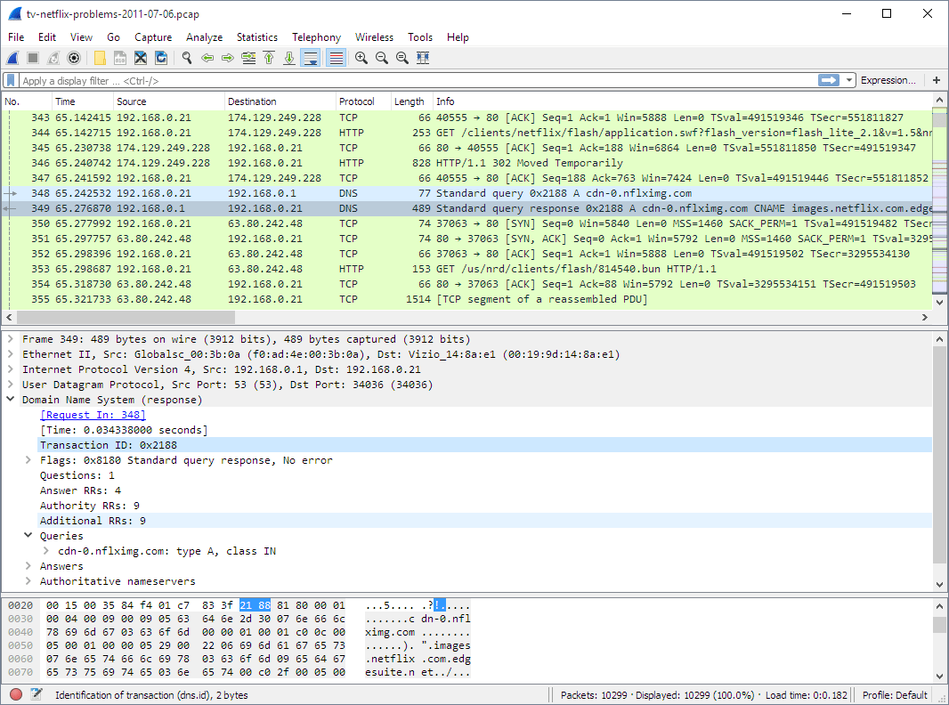 5 Menus De Wireshark