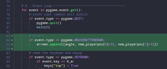 Kode untuk event klik