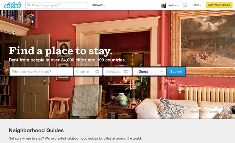 AirBnB Landing Page Copy