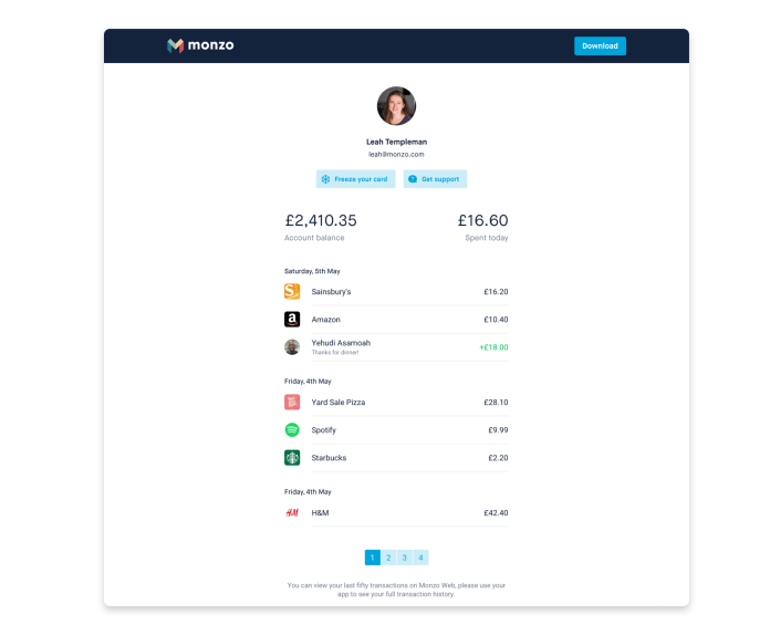 Access your account in an emergency with Monzo Web-fernandocheng