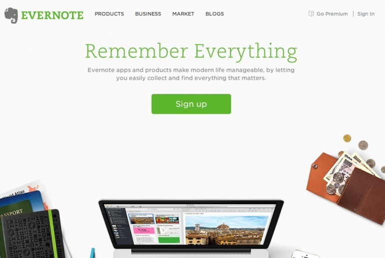 Evernote Landing Page Copy