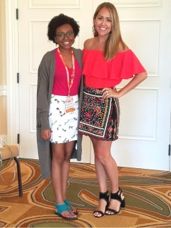 Me with fashion blogger Jeanette Johnson!