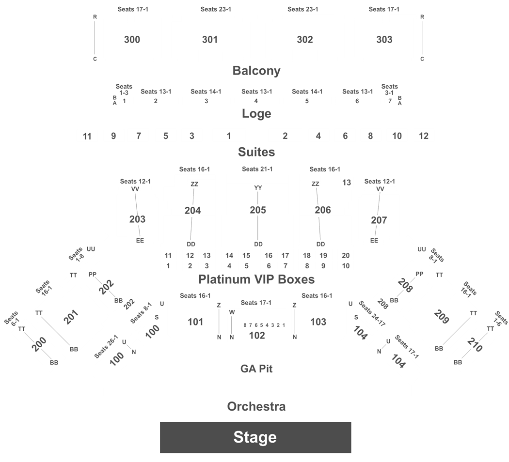 Toyota Center Interactive Seating Chart
