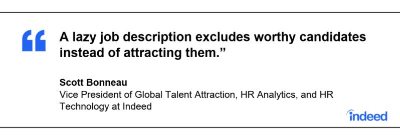 write a good job description