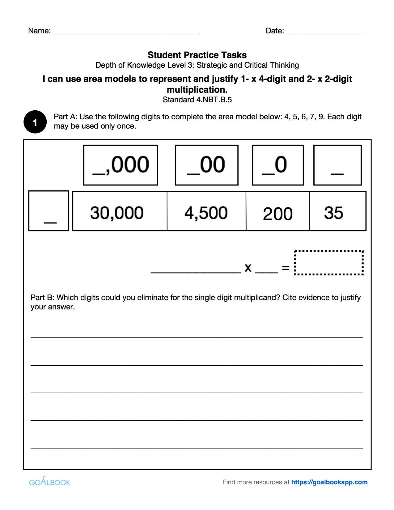 4 Nbt 5 Calculate And Explain Multiplication