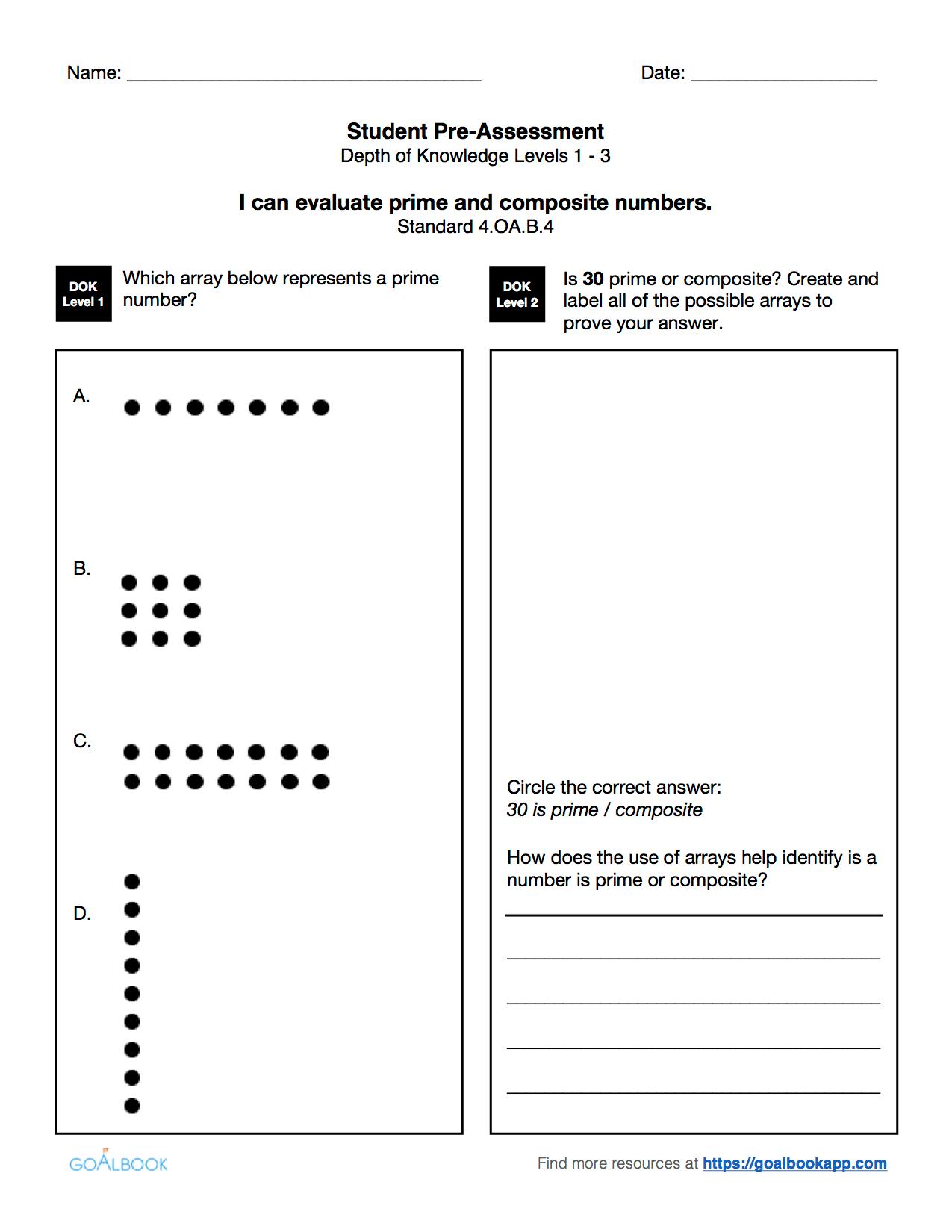 4 Oa 4 Factors Multiples And Primes