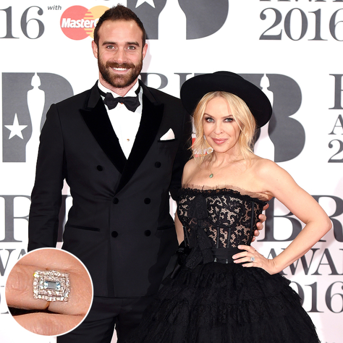 Best Celebrity Engagement Rings - Kylie Minogue