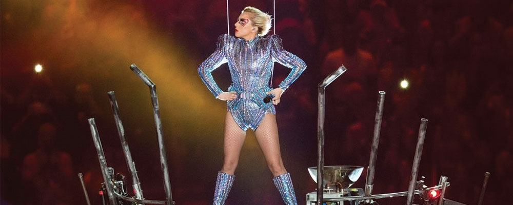 Lady Gaga Super Bowl Look Was A Glittery And Epic Tribute