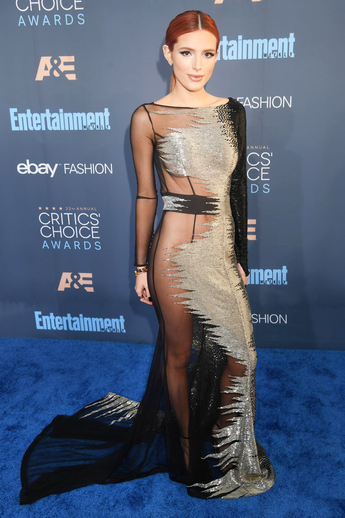 Naked Dress Trend - Bella Thorne at the 22nd annual critics ' choice awards.