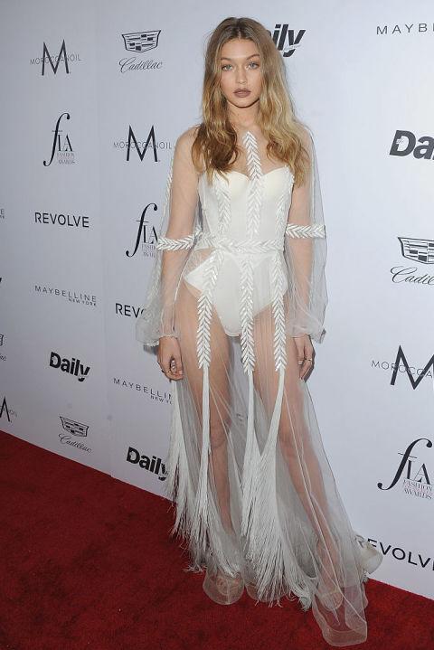 Naked Dress Trend - Gigi Hadid