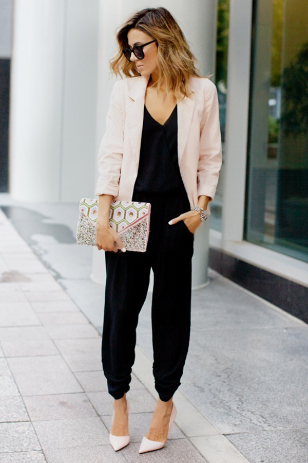 What To Wear To a Job Interview In Fashion-Blazer With Jumpsuits