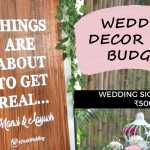 Wedding Decor On Budget: DIY Wedding Sign Under ₹500