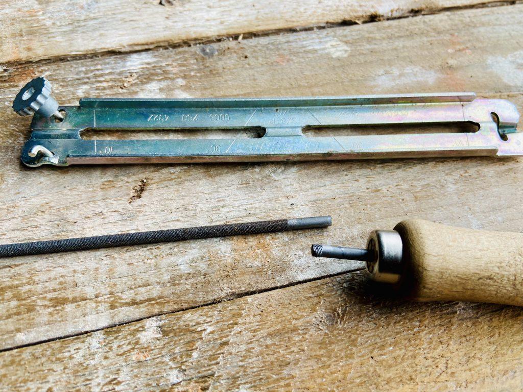 Broken Stihl chainsaw sharpener