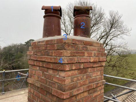 rebuilding a period chimney