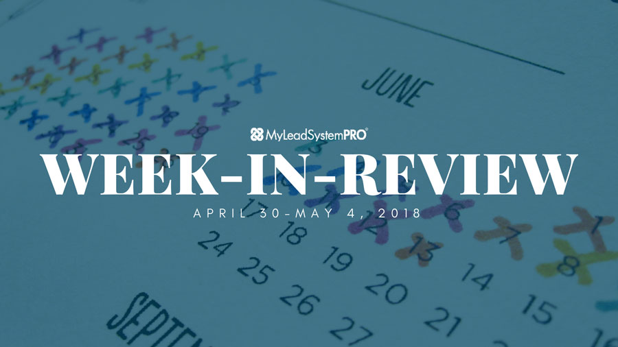 MLSP Week-in-Review: April 30, 2018