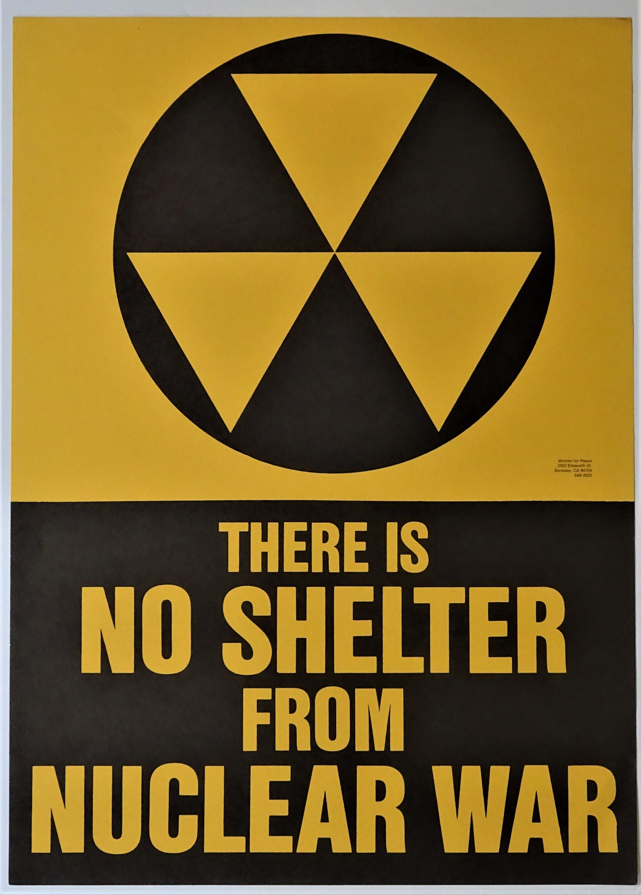 protest poster there is no shelter from nuclear war by women for peace first printing from dale steffey books sku 008561
