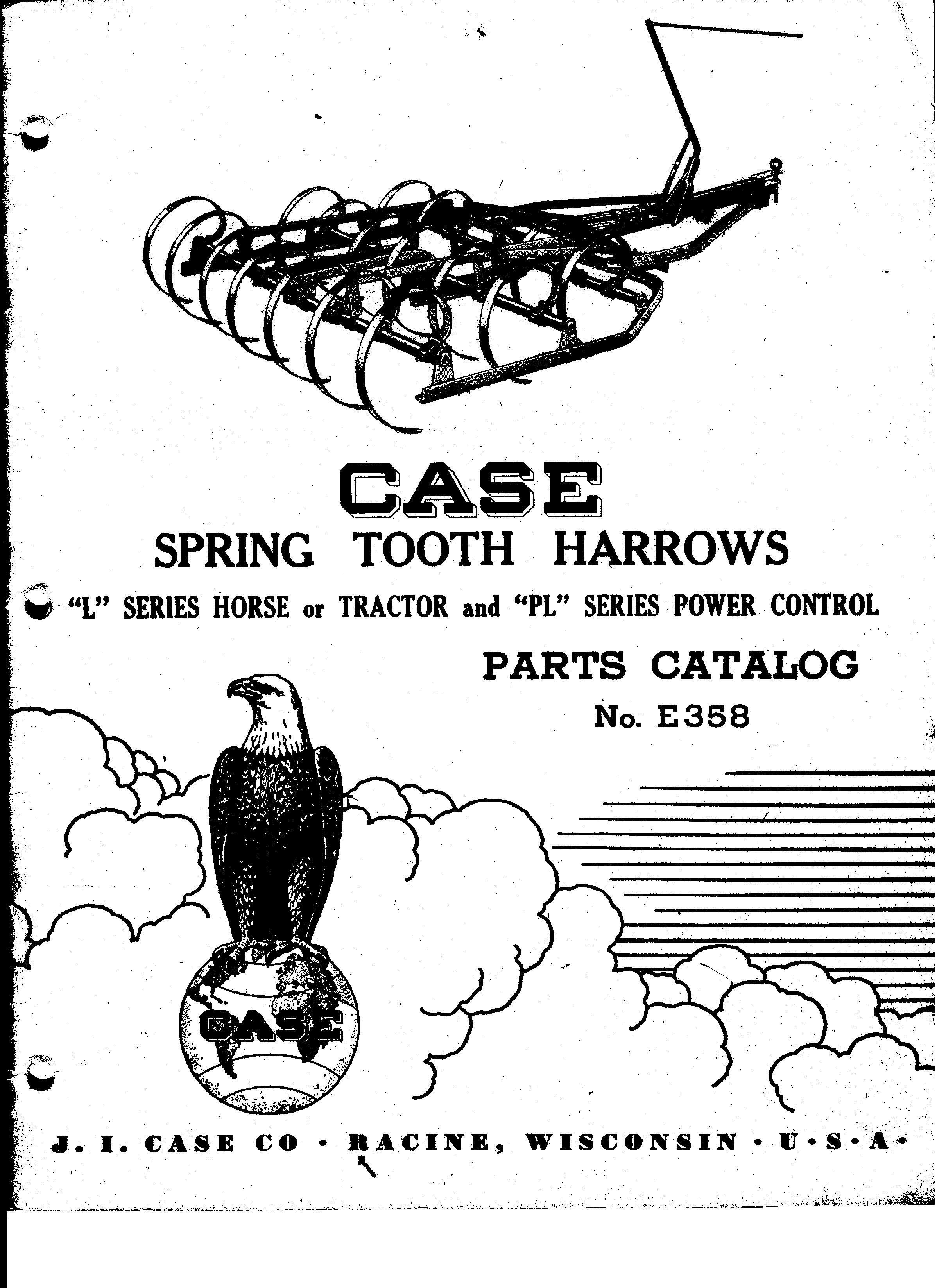 Case Horse Or Tractor Spring Tooth Harrows