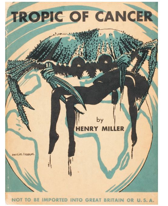 Tropic of Cancer by Miller, Henry - 1934 banned books