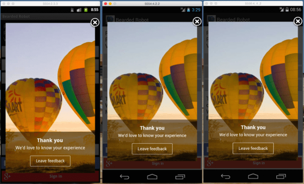 WebView rendered incorrectly in all versions of Android