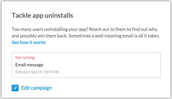App Uninstall - Clever Campaign