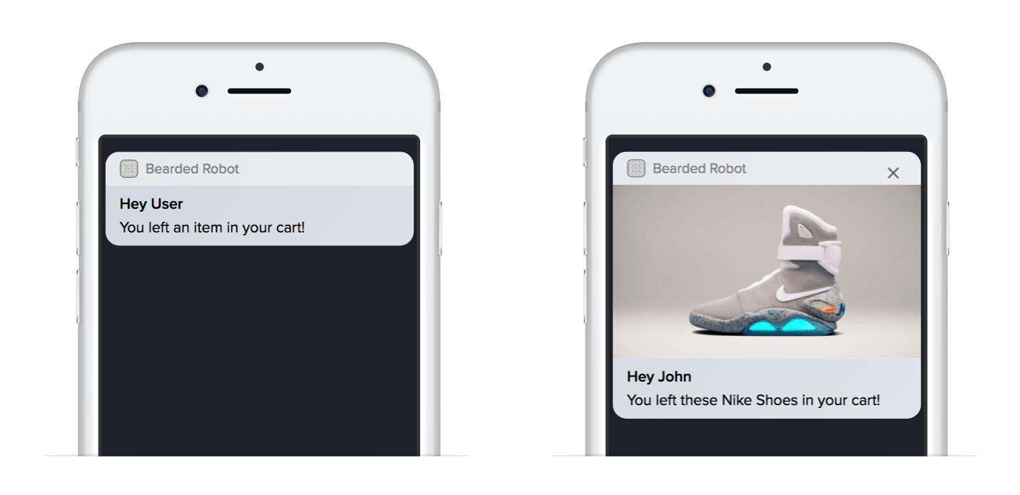 Dynamic Values in Push Notifications