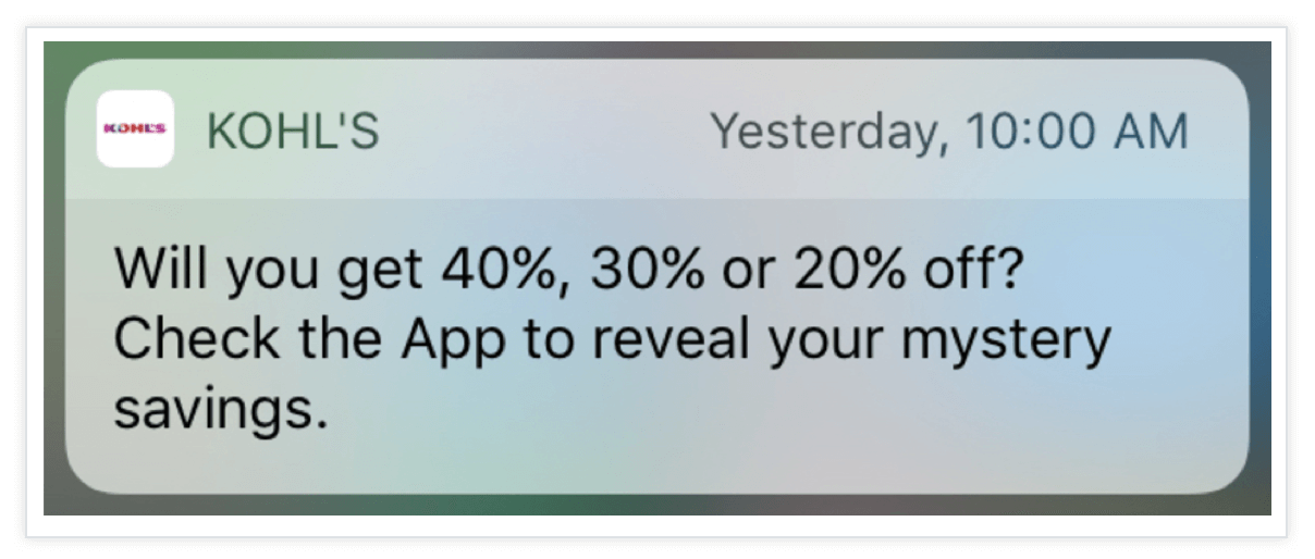 Kohls-Push-Notification