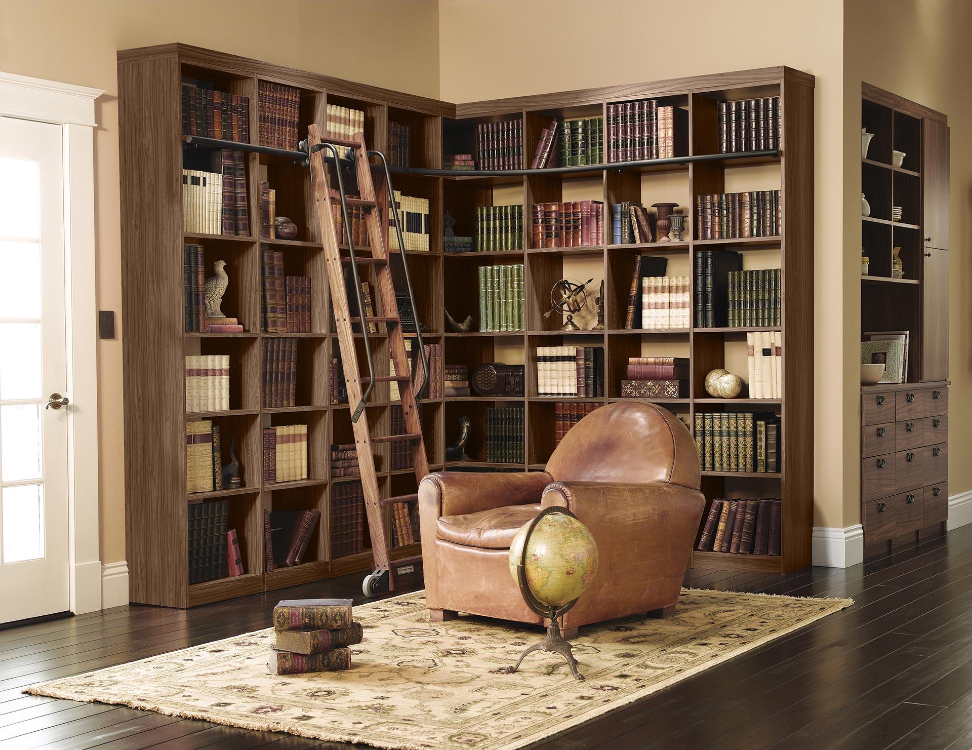 Home Library Custom Bookcases Shelves California Closets
