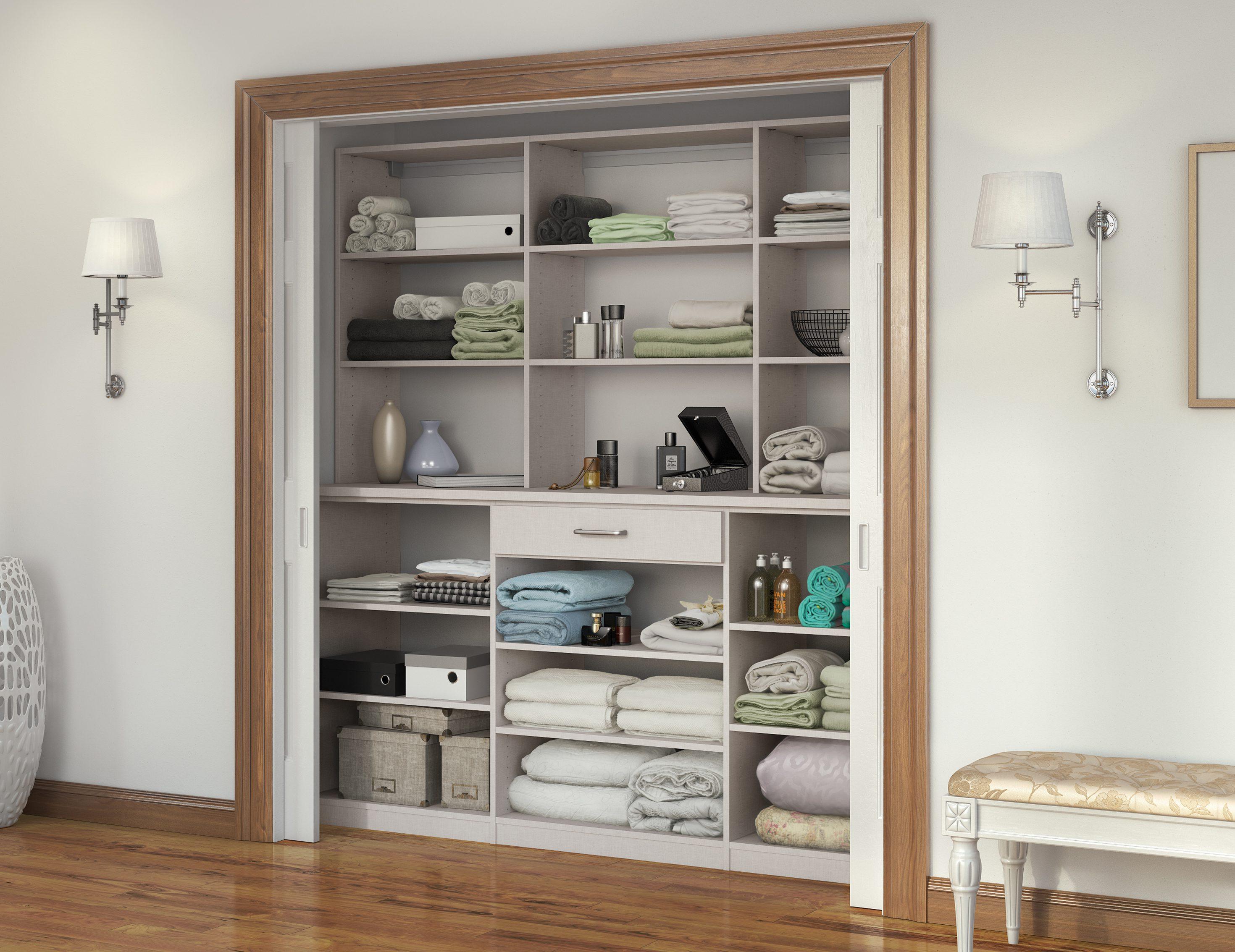 Linen Cabinets Hall Closet Organizers California Closets
