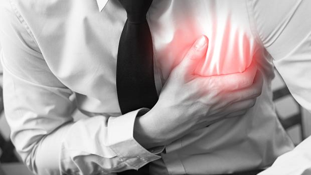 ilustrasi nyeri dada karena jantung