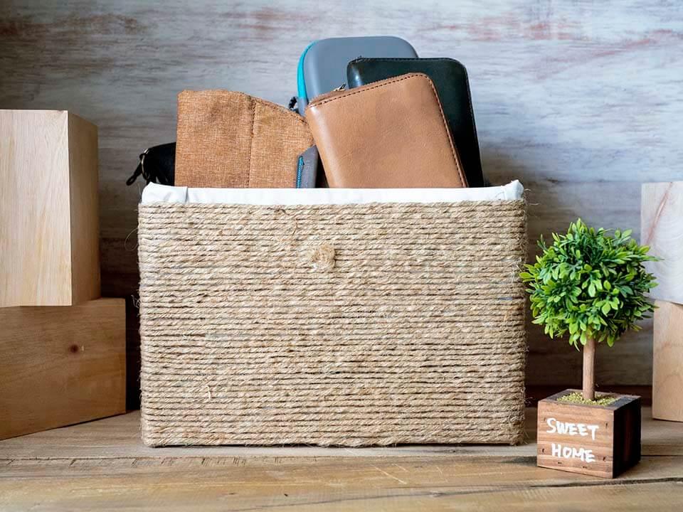 kotak kardus DIY untuk penyimpanan