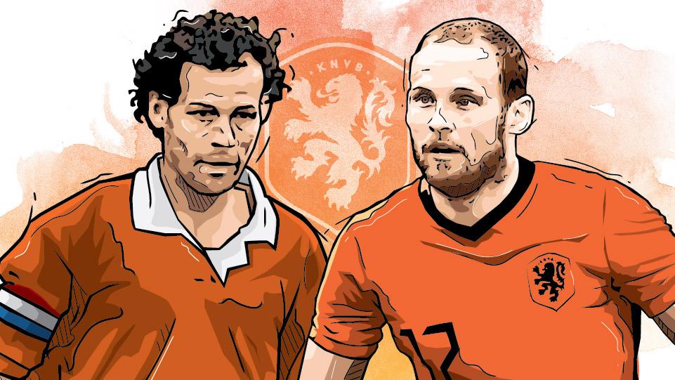 Danny dan Daley Blind, Pasangan Anak dan Ayah yang bermain di Piala Eropa