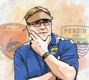 Robert Rene Alberts, pelatih Persib Bandung asal Belanda yang pernah menjadi juru taktik PSM Makassar.