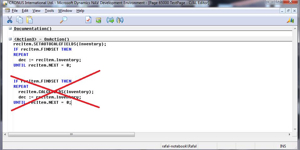 Microsoft Dynamics NAV 2013 i SETAUTOCALCFIELDS
