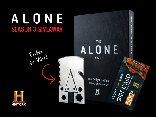 $500 Sports Retailer Gift Card + Alone Survival Card