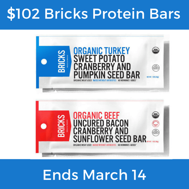$102 Bricks Protein Bars Giveaway